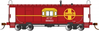 Bachmann HO Bay Window Caboose - Sante Fe