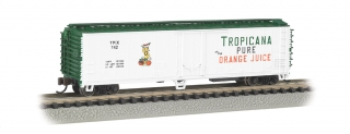 Bachmann N 50 FT Steel Reefer - Tropicana (White & Green)