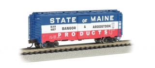 Bachmann N 40 FT Box Car - UP - Bangor & Aroostook