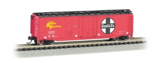 Bachmann N 50 FT Plug-Door Box Car - Santa Fe