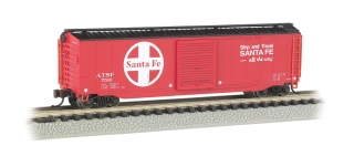 Bachmann N 50 FT Sliding Door Box Car - Santa Fe