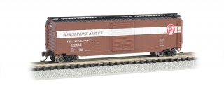 Bachmann N 50 FT Sliding Door Box Car - Pennsylvania Merchandise Service