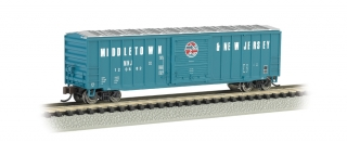 Bachmann N 50.5 FT Outside Braced Box Car - Middletown & New Jersey