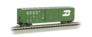 Bachmann N 50.5 FT Outside Braced Box Car - Burlington Northern