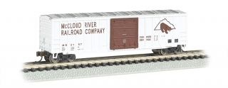 Bachmann N 50.5 FT Outside Braced Box Car - McCloud River