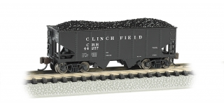 Bachmann N 55-Ton 2-Bay Hopper - Clinchfield®