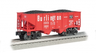 Bachmann N 55-Ton 2-Bay Hopper - Burlington