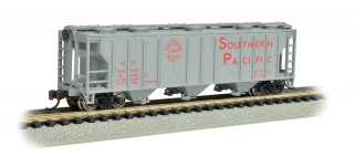 Bachmann N PS-2 Three-Bay Covered Hopper - LN - Southern Pacific