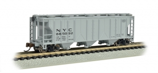 Bachmann N PS-2 Three-Bay Covered Hopper - LN - New York Central