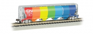 Bachmann N 4-Bay Cylindrical Grain Hopper - CN - Demonstrator