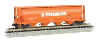 Bachmann N 4-Bay Cylindrical Grain Hopper - Potacan