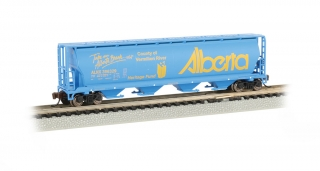 Bachmann N 4-Bay Cylindrical Grain Hopper - Alberta - Vermillion River