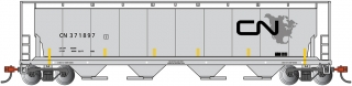 Bachmann N 4-Bay Cylindrical Grain Hopper - CN - North American Logo