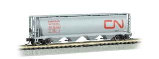 Bachmann N 4-Bay Cylindrical Grain Hopper - Canadian National