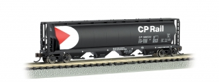 Bachmann N 4-Bay Cylindrical Grain Hopper - CP Rail