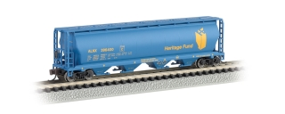 Bachmann N 4-Bay Cylindrical Grain Hopper - Heritage Fund