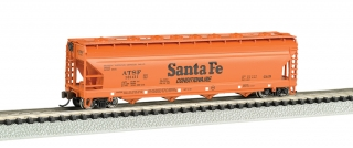Bachmann N 56 FT 4-Bay Center-Flow Hopper - Santa Fe