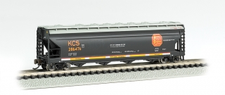 Bachmann N 56 FT 4-Bay Center-Flow Hopper - Kansas City Southern #286476