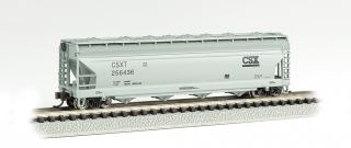 Bachmann N 56 FT 4-Bay Center-Flow Hopper - CSX® #256436