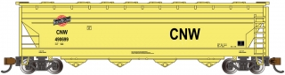 Bachmann N 56 FT 4-Bay Center-Flow Hopper - CNW™
