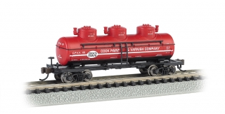 Bachmann N Three-Dome Tank Car - Cook Paint & Varnish CO.