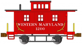 Bachmann N Old-Time Caboose - Western Maryland® #1200