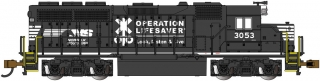 Bachmann N EMD GP40 - Norfolk Southern Operation Lifesaver #3053