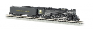 Bachmann N 2-8-4 Berkshire - C&O® Kanawha #2724 - DCC + Sound