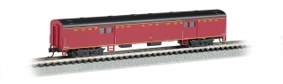 Bachmann N 72 FT Smooth-Sided Baggage Car - Norfolk & Western