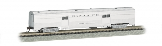Bachmann N 72 FT Fluted Sides Door Baggage car - Santa Fe