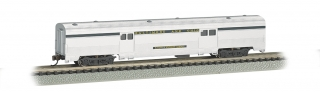 Bachmann N 72 FT Fluted Sides Door Baggage car - B&O® Silver