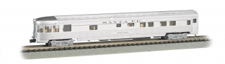 Bachmann N 85 FT Fluted Sides Door Observation car - Santa Fe
