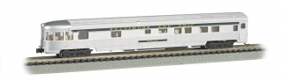 Bachmann N 85 FT Fluted Sides Door Observation car - B&O® Silver
