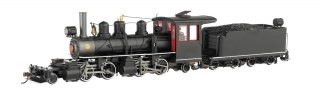 Bachmann On30 Baldwin 2-4-4-2 Articulated - Black Steel Cab / White Stripe - DCC