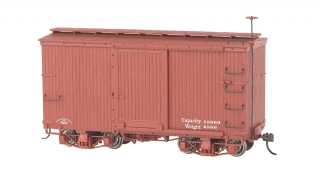 Bachmann On30 18 FT Box Car - Oxide Red, Data Only