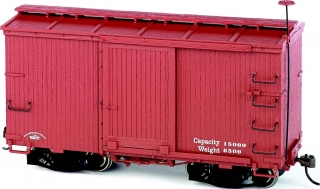 Bachmann On30 18 FT Box Car - Murphy Roof - Oxide Red, Data Only