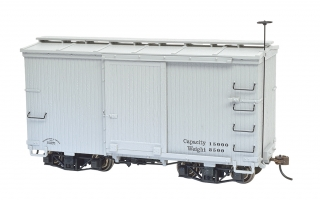 Bachmann On30 18 FT Box Car - Murphy Roof - Gray, Data Only