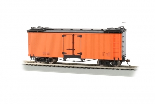 Bachmann On30 Reefer Box Car - Orange with Black Roof
