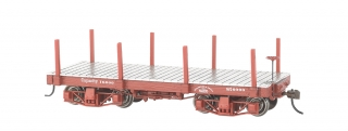 Bachmann On30 18 FT Flat Car - Oxide Red, Data Only