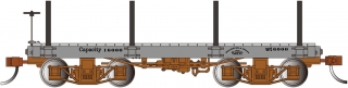 Bachmann On30 18 FT Flat Car - Gray, Data Only