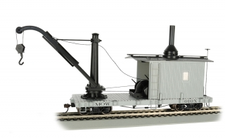 Bachmann On30 Derrick Car - MOW Gray