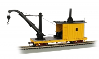 Bachmann On30 Derrick Car - MOW Yellow