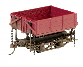Bachmann On30 Wood Side-Dump Car - Red Oxide