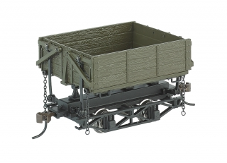 Bachmann On30 Wood Side-Dump Car Green
