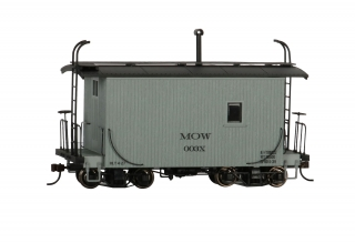 Bachmann On30 18 FT Logging Caboose - MOW Gray