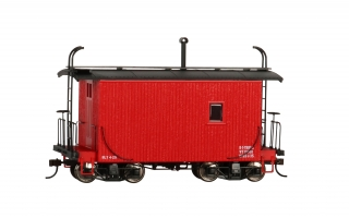 Bachmann On30 18 FT Logging Caboose - Red