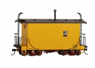 Bachmann On30 18 FT Logging Caboose - Yellow