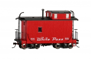 Bachmann On30 18 FT Off-Set Cupola Caboose - White Pass & Yukon