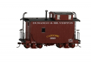Bachmann On30 18 FT Off-Set Cupola Caboose - Durango & Silverton