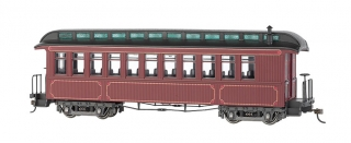 Bachmann On30 Passanger Car - Burgundy & Black